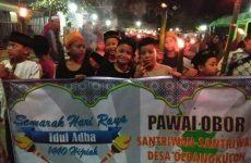 Meriahkan Iduladha, Keluarga Besar NU Ranting Gebang Kulon Gelar Pawai Obor