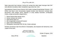 Lembaga Pengembangan Pertanian NU Cirebon Buka Pendaftaran Petugas Sensus Ekonomi